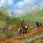 Trail Ride In Sabino Canyon Art Print
