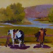 Trail Riding  Art Print