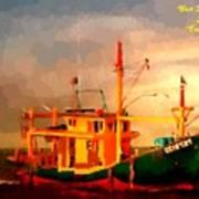 Trailer Ship H A Art Print