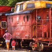 Train - Car - Pennsylvania Northern Region Caboose 477823 Art Print