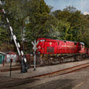 Train - Diesel - Look Out For The Locomotive  Print by Mike Savad