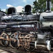 Train - Engine - 385 - Baldwin 2-8-0 Consolidation Locomotive Art Print