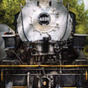 Train - Engine - 4039 American Locomotive Company  Print by Mike Savad