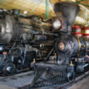 Train - Engine - Steam Locomotives Art Print