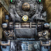 Train - Engine -1218 - Norfolk Western Class A - 1218 - Front View Art Print