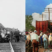 Train - Accident - Butting Heads 1922 - Side By Side Art Print