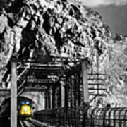 Train At Harpers Ferry Art Print
