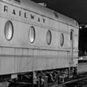 Train Car, Black And White Art Print
