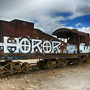 Train Graveyard Uyuni Bolivia 13 Art Print