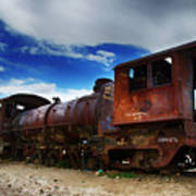 Train Graveyard Uyuni Bolivia 15 Art Print