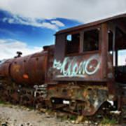 Train Graveyard Uyuni Bolivia 16 Art Print