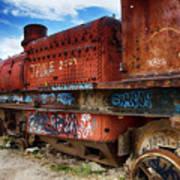 Train Graveyard Uyuni Bolivia 18 Art Print