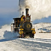 Train In Winter Art Print