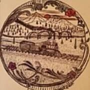 Train Is A-comming Art Print