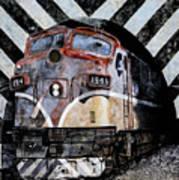 Train Mural Art Print