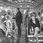 Train: Passenger Car, 1876 Art Print