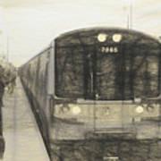 Train Sketch Art Print