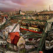 Train Station - Wuppertal Suspension Railway 1913 Art Print