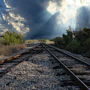 Train Track Junction In Charleston Sc Art Print
