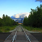 Train Tracks Anchorage Alaska Art Print