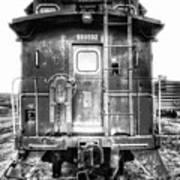 Train Waiting In Atchison Kansas Art Print