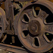 Train Wheels At Eckley Village Art Print