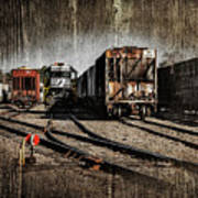 Train Yard Art Print