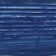 Trains 13 Cyanotype Border Art Print