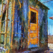 Trains Box Car Yellow Door Pa 02 Art Print