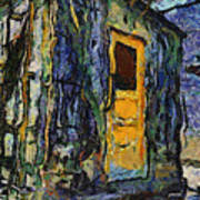 Trains Box Car Yellow Door Pa 04 Art Print