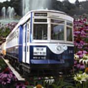 Trains Brookfield Zoo Trolley Car 141 Art Print