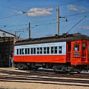 Trains Chicago Aurora Elgin Trolley Car 409 Art Print
