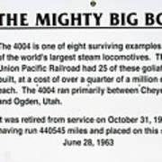 Trains Mighty Big Boy Signage Art Print