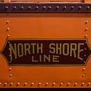 Trains North Shore Line Chicago Signage Art Print