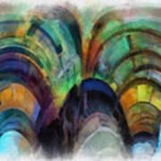 Trains Warp Speed Box Car Yellow Door Pa 01 Art Print