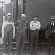 Trainsmen Art Print