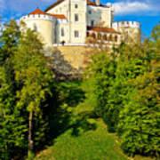 Trakoscan Castle And Green Lake  Art Print
