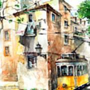 Tram In Lisboa Art Print
