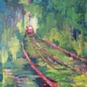 Pink Tram Art Print
