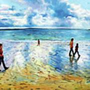 Tramore Beach Waterford Art Print