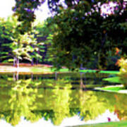 Tranquil Landscape At A Lake 1 Art Print