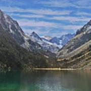 Tranquil Mountain Lake Art Print