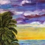 Tranquility At Kapoho Last Sunset Art Print