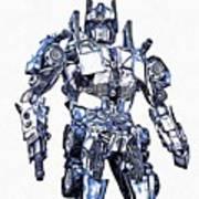 Transformers Optimus Prime Or Orion Pax Graphic  Art Print