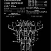 Transformers Patent - Black And White Art Print