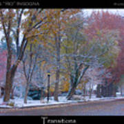 Transitions Autumn To Winter Snow Poster Art Print