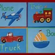 Transportation Modes Art Print