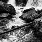Trap Falls In Ashby Ma Black And White 9 Art Print