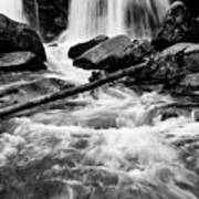 Trap Falls In Ashby Ma Black And White 1 Art Print