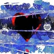 Trapped Heart Art Print